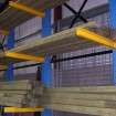 Single sided cantilever rack with light weight arms