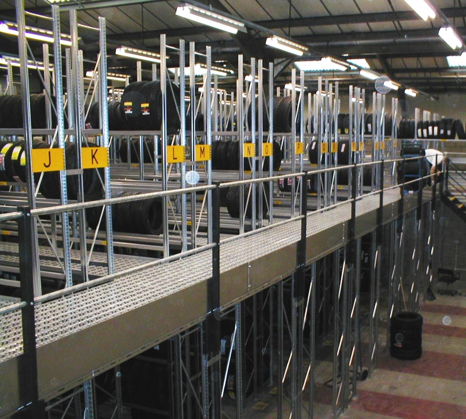 Industrial Tier Racking Shelving Walkway Systems
