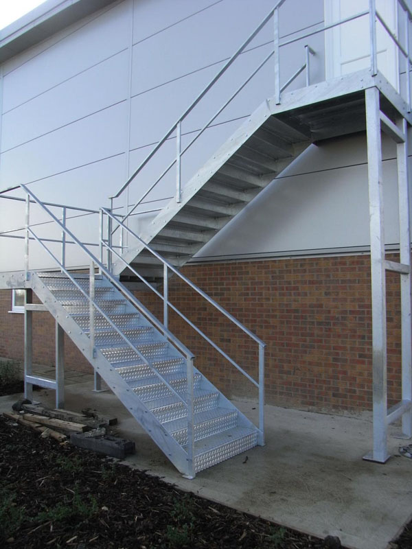 ... External Fire Escape Stairs In Galvanized Finish ...