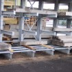 Double sided heavy duty cantilever rack