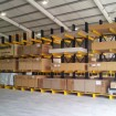 Loaded single sided cantilever rack