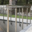 Stainless handrail with wire balustrade