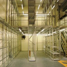 Two-Tier stockroom ready for loading