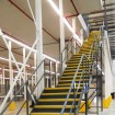 Access to mezzanine floor in distribution centre